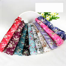 Wholesale 150 cm width 80gsm soft shiny polyester floral printed satin fabric