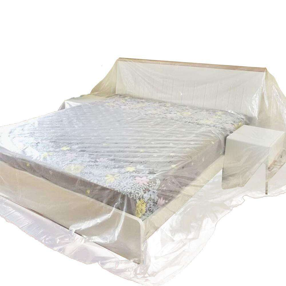 Heavy Duty clear see-through Waterproof Dustproof sofa bed table furniture protective Cover