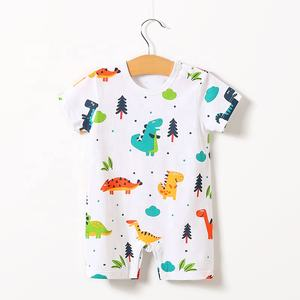 Baby 옷 Baby Romper 100% 면 Summer Short SleeveCute 공룡 Print Romper, Retail 및 도매