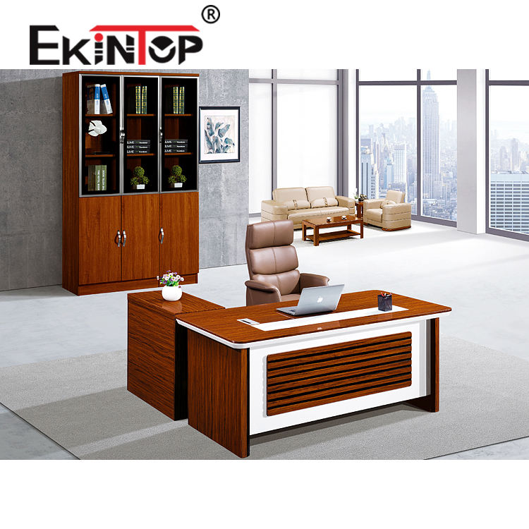 Ekintop good quality office furniture home office furniture paper veneer finished office executive table