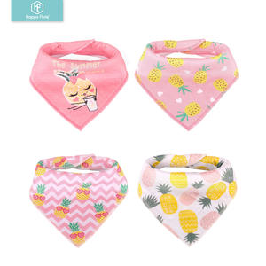 bandana bibs cotton baby triangle drool bibs 4 one sets Manufacturer custom print
