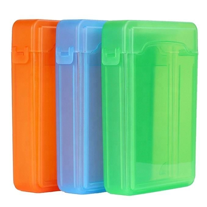 Hard Drive Disk Protective Box - Eaxer Shockproof Anti-Static Storage Case for 3.5 Inch HDD - Green/ Red/ Gray/ Blue/ White