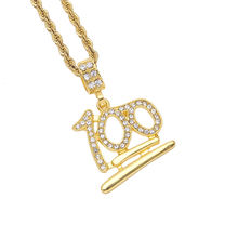 Hot Sale Custom Jewelry Gold Chain Necklace Man Fashion Hiphop Pendant