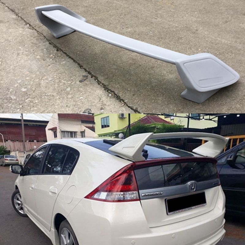 ABS Plastic Unpainted Primer Color Rear Boot Trunk Wing Spoiler For Honda Insig insight 2013