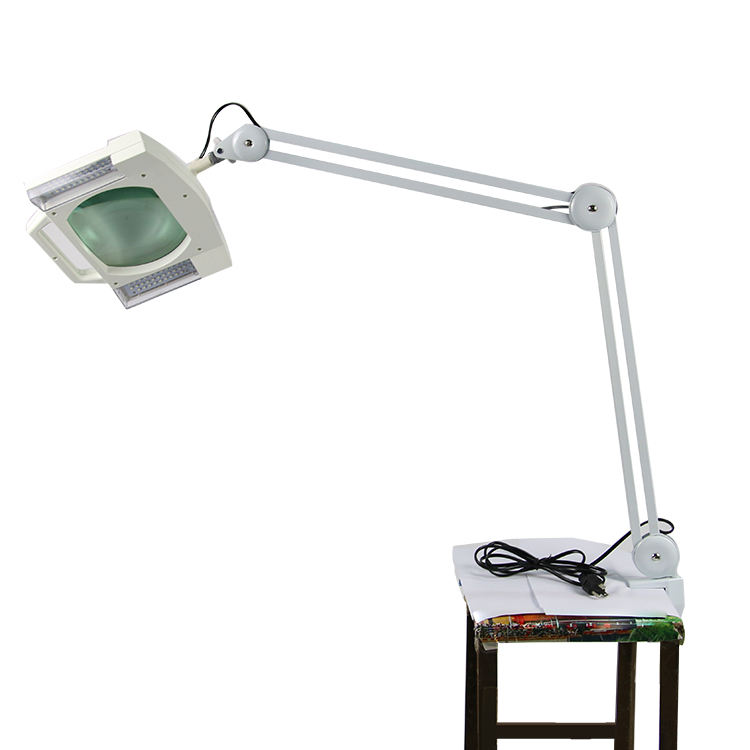 Table lamp magnifying glass, magnifying lamp with clamp, professional magnifying lamp