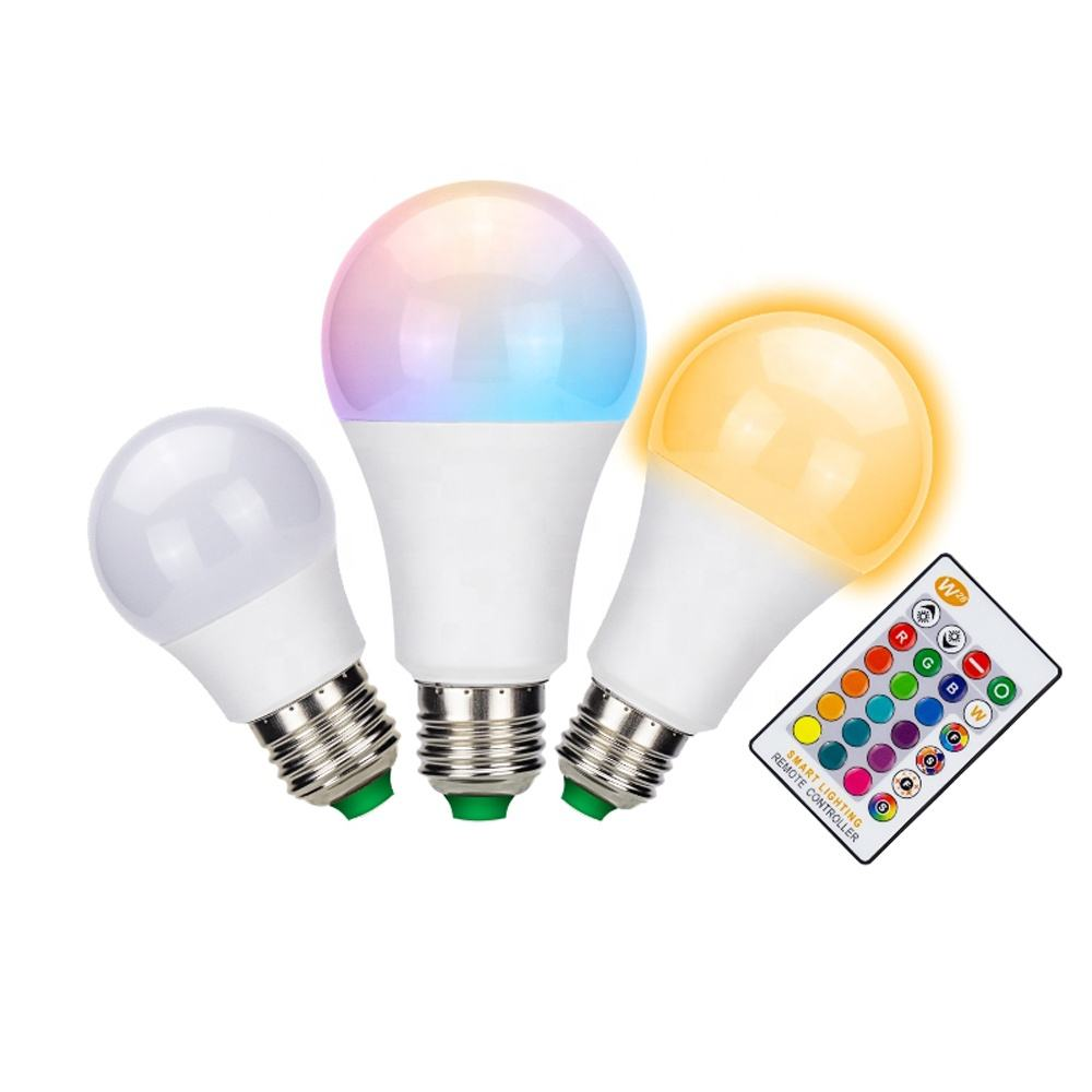 E27 3 W 5 W 10 W RGB + W Multicolor LED Lamp Licht Kleur Veranderende Lamp + Afstandsbediening led rgb lamp