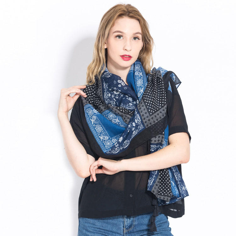 new fashion chiffon women thin shawls and wraps spring summer Floraly long pashmina beach sunscreen stoles hijab