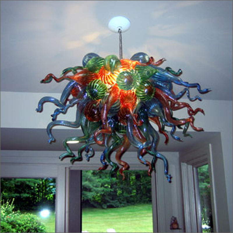 Hot Sale Hand Blown Glass Chandelier for Hotel Home Chihuly Style Art Decorative Designer Glass Pendant Lamps