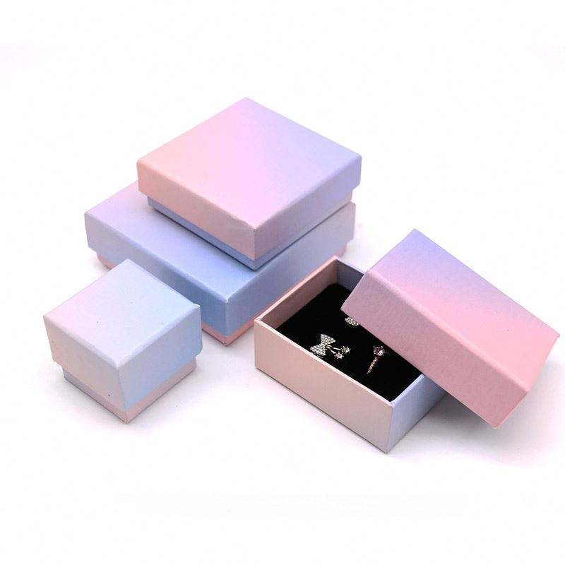 Leather Box For Earring Rings Necklace Bracelet Earrings Jewelry Set Travel Jewelry Packaging Box For Bracelets