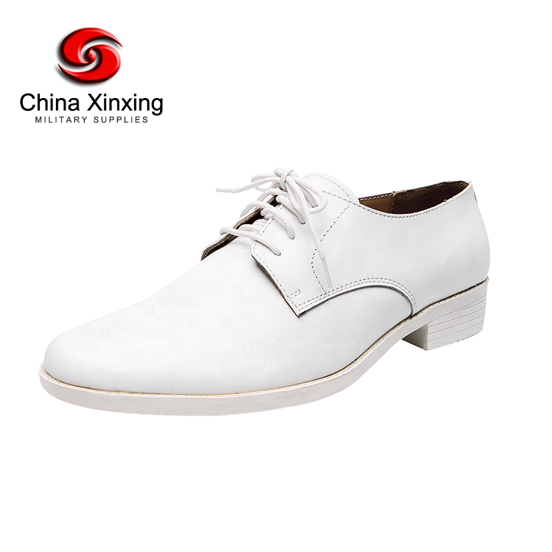 China Xinxing military white leather shoes men's dress formal shoes for police army officer LS02