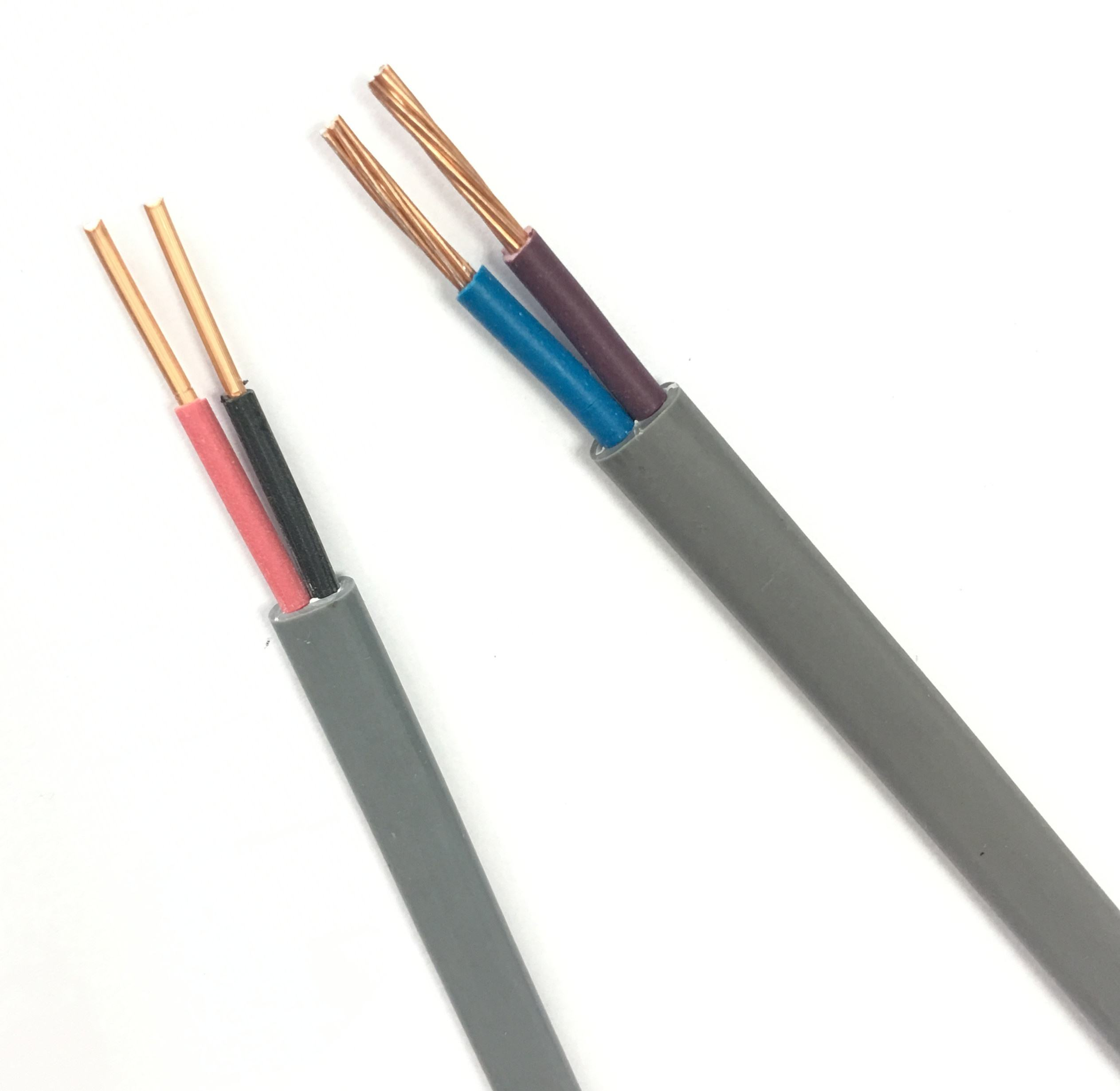 0.6/1KV 1.5mm 2.5mm 4mm 6mm 10mm 2 core insulated Pure Copper Conductor PVC Flat Sheath Copper Twin Cable Wire