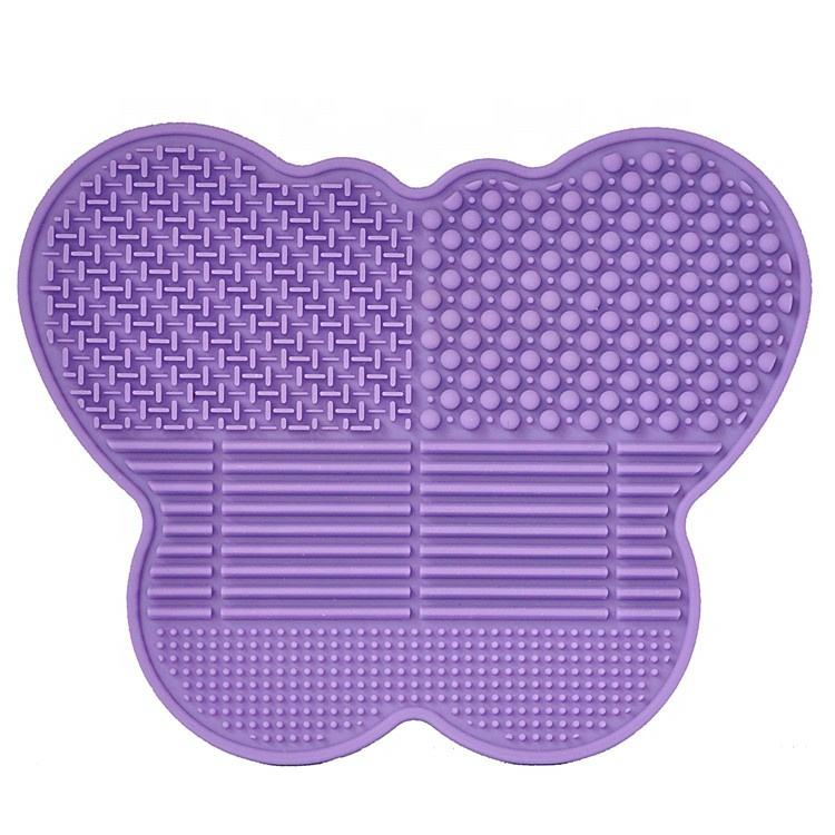 Good product Beautiful Customable Butterfly Silicone Wash Pad Cosmetic Clean Brush Pad