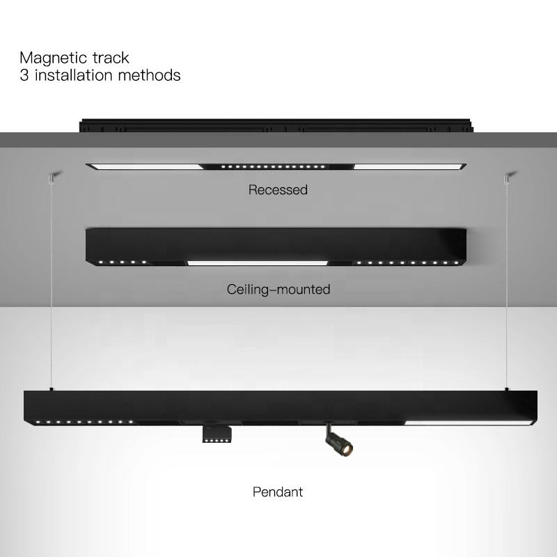 Scon Magnetic Rail System Aluminum Ceiling Recessed Creative Luminaire Magnetic LED Light