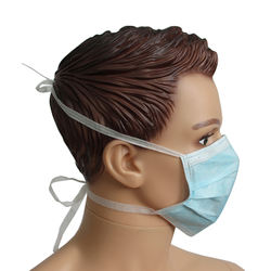 Cheap In Stock 3 Ply Non Woven Disposable Medical Face Mask Tie On Hospital Surgical Face Mask