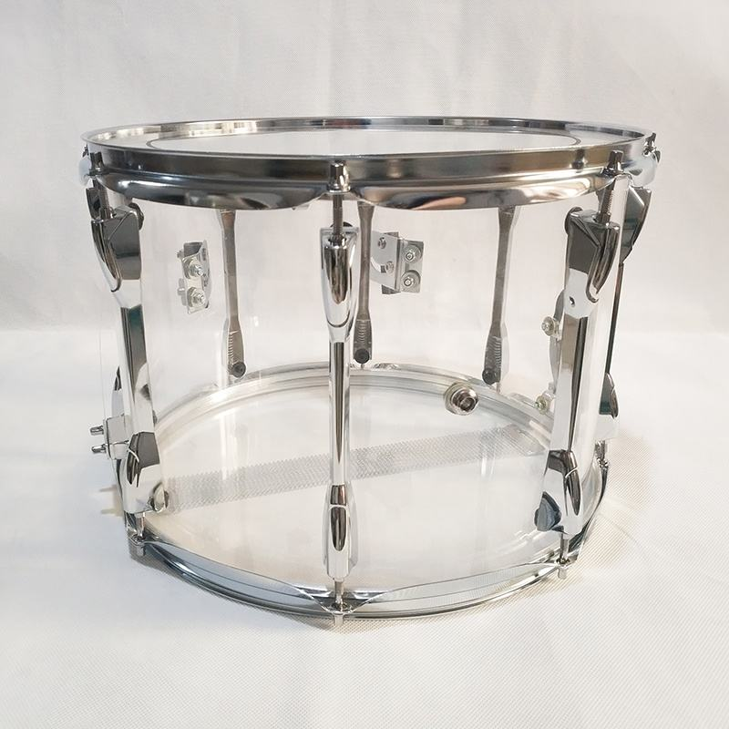 Clear Acrylic snare marching drum 14 inch
