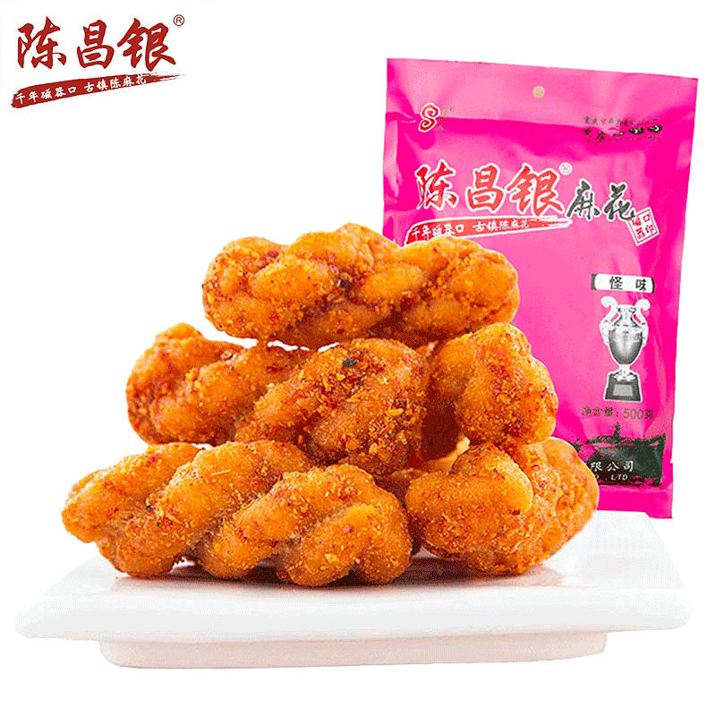 Chinese snack food Strange Special flavor pastry Hot Sales fried dough twist 500g