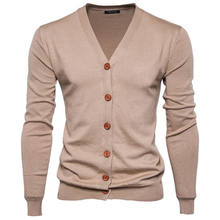 wholesale casual sweater men v neck knitted sweater