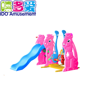 Kids Indoor Colorful Plastic Multifunctional Playground Slide Swing