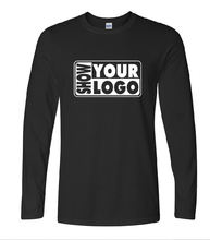 Free shipping custom screen print your logo 100% cotton long sleeve t shirt