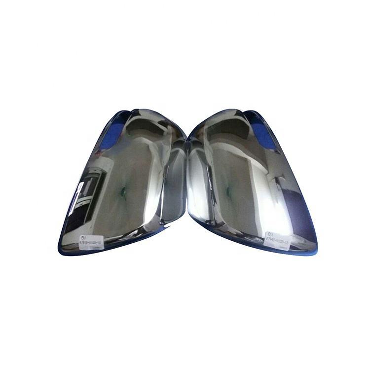 S SIZVER Combo Chrome Full Mirror Covers+Chrome Door Handle for Nissan Frontier