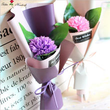 Hot sale soap rose flowers carnation artificial flower as gift for mother's day