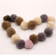 Faux Fur Ball 4CM Craft Supplies Rabbit Keychain Bag Hat Shoes Cloth Jewelry Charms With Fluffy Bunny trim Ponpon