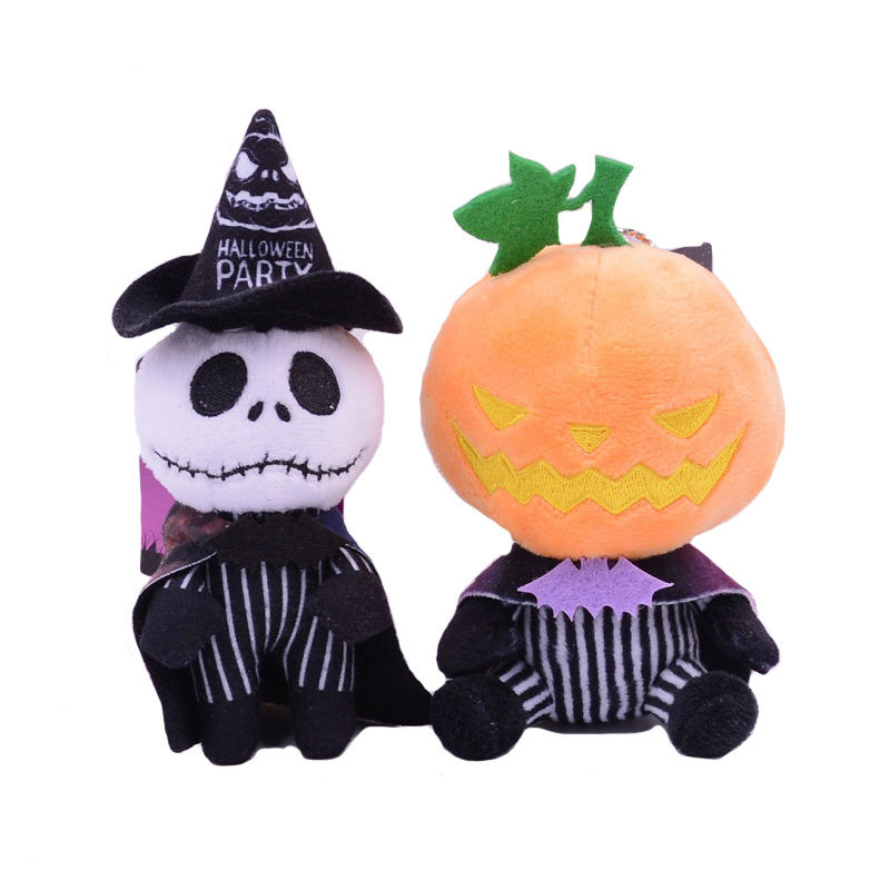 Bulk Wholesale Cheap Custom Plush Pumpkin Skeleton Smoker Toy Home Decoration Halloween Plush Toys