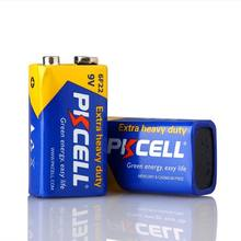 Pkcell supply non rechargeable 9 volt battery carbon zinc battery 9v 6f22