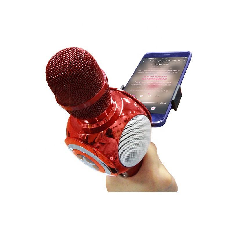 <span class=keywords><strong>Portátil</strong></span> recarregável handheld karaoke <span class=keywords><strong>microfone</strong></span> sem fio handheld speaker mic