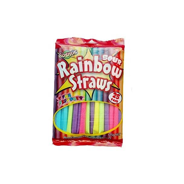 Candied Fruit 5g Fruit Sour Powder Rainbow Straw CC Sticks Candy