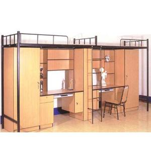 Modern double decker beds metal bunk bed with curtain
