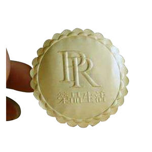 Customised Gold Embossed Logo Sticker Adhesive Stamping Silver Label