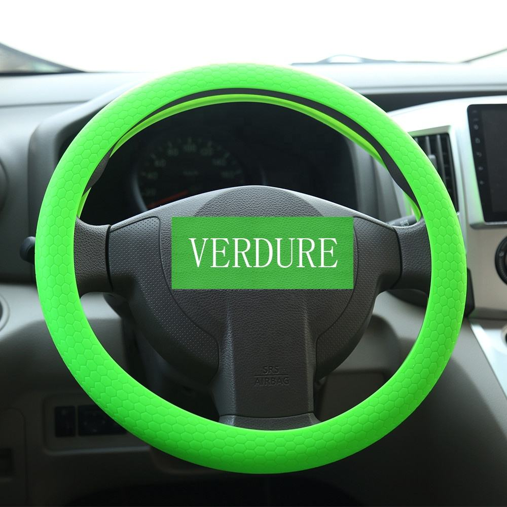 Car Accessories Interior Decoration Silicon Steering Wheel Cover Car Steering For Manufacturer