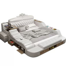 Europe and America Style Leather Bed Massage Modern Soft Beds Home Bedroom Furnit V&P-c9006b#