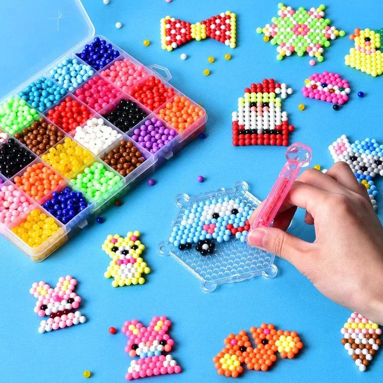 3d puzzle diy toy Water sticky Magic Beads With Spray Crystal Beads Sets
