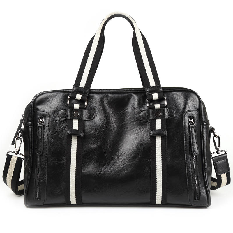 Wholesale Cheap Sac A Main Homme Cuir De Luxe De Marque Luxury Black Men Leather Handbag