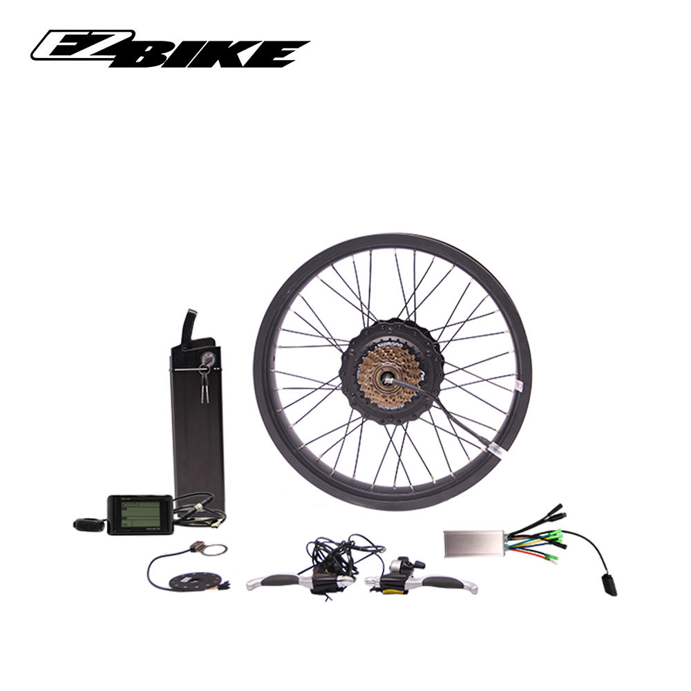 48v battery 500w electric bike conversion kit with 20 inch rear fat wheel