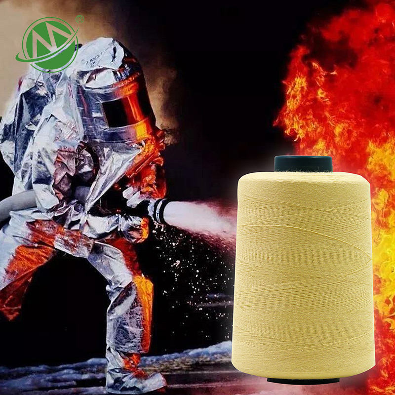 China Wholesale Aramid Fiber Knitting Thread Yarn For Fire Resistant Fabric Coverall