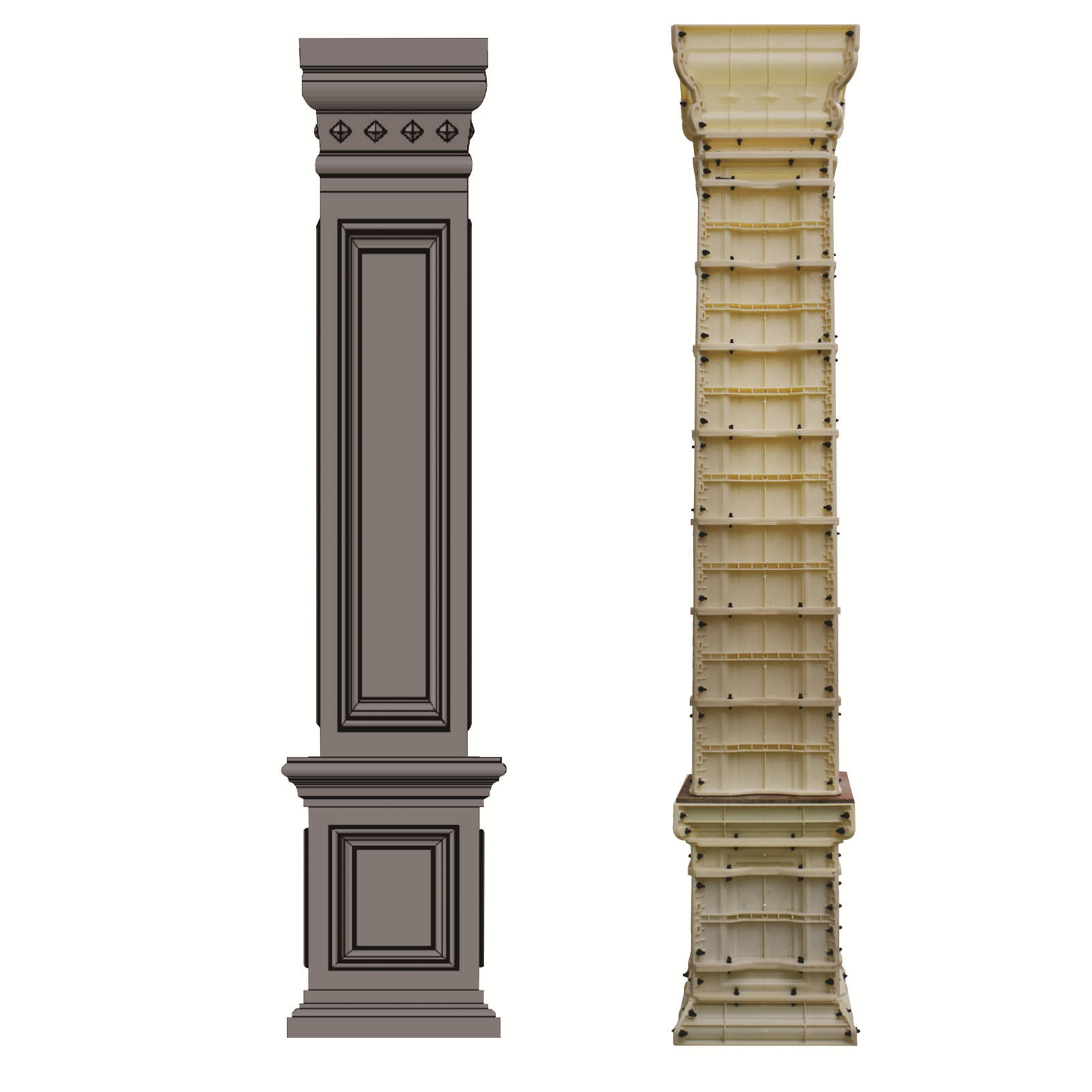 2019 New Arrival Square Pillar Concrete Roman Column Mold From Factory