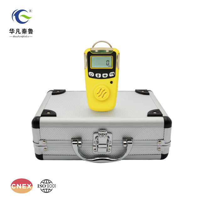Portable battery operated ozone gas detector monitor