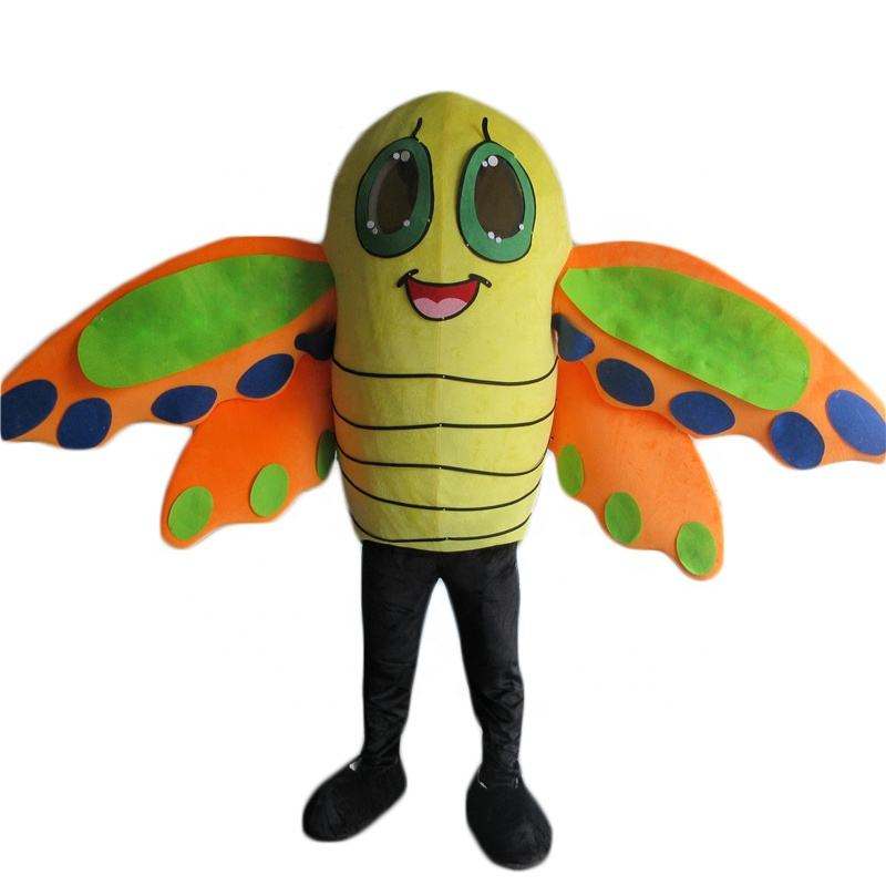 Manlain Cartoon promotional cute plush adult butterfly mascot costumes