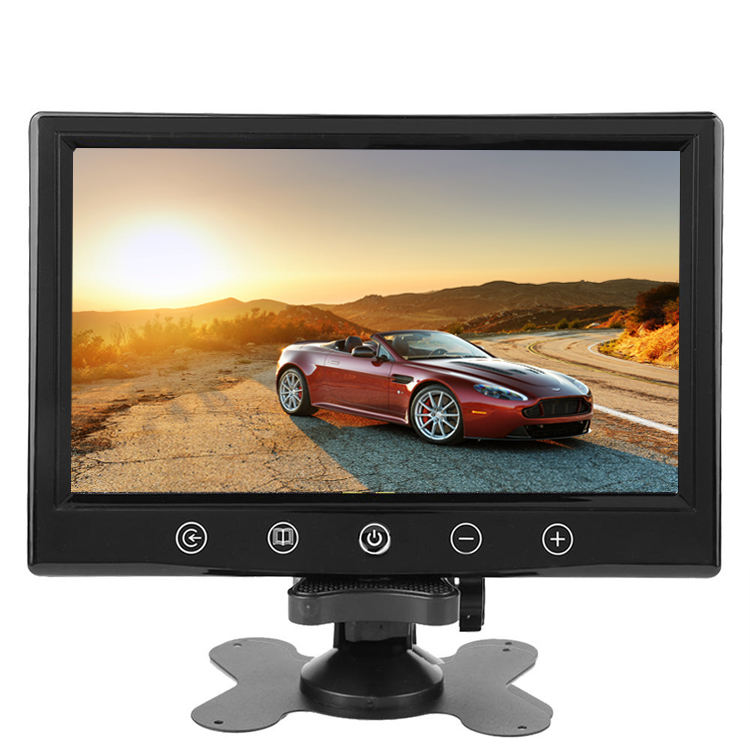 9 polegadas HD 800x480 Tela Colorida TFT LCD 2 way Entrada de Vídeo Car Rear View Monitor de exibição para backup Câmera Car DVD VCR STB