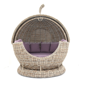 Tent designed patio sunshade furniture unique garden round room shape daybed rattan lounge chair