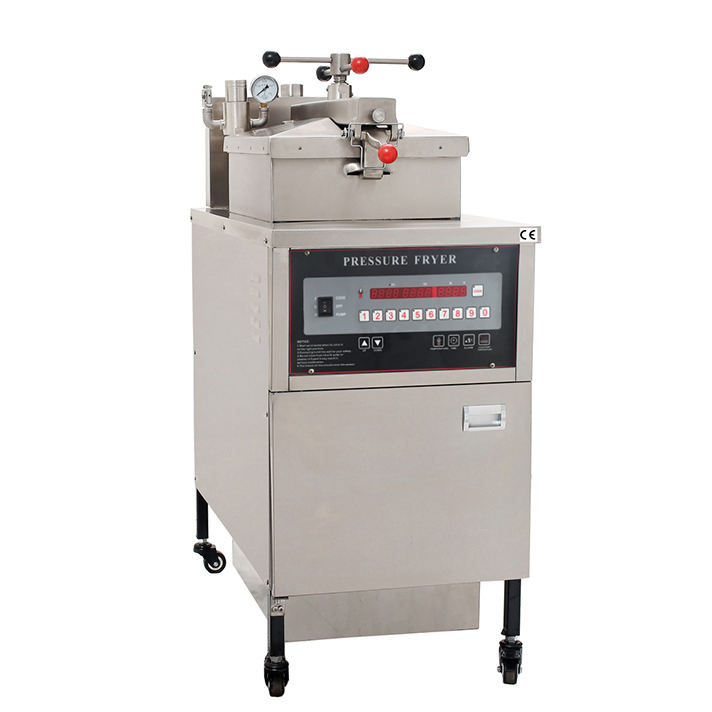 kfc equipment, fried chicken machine with oil pump