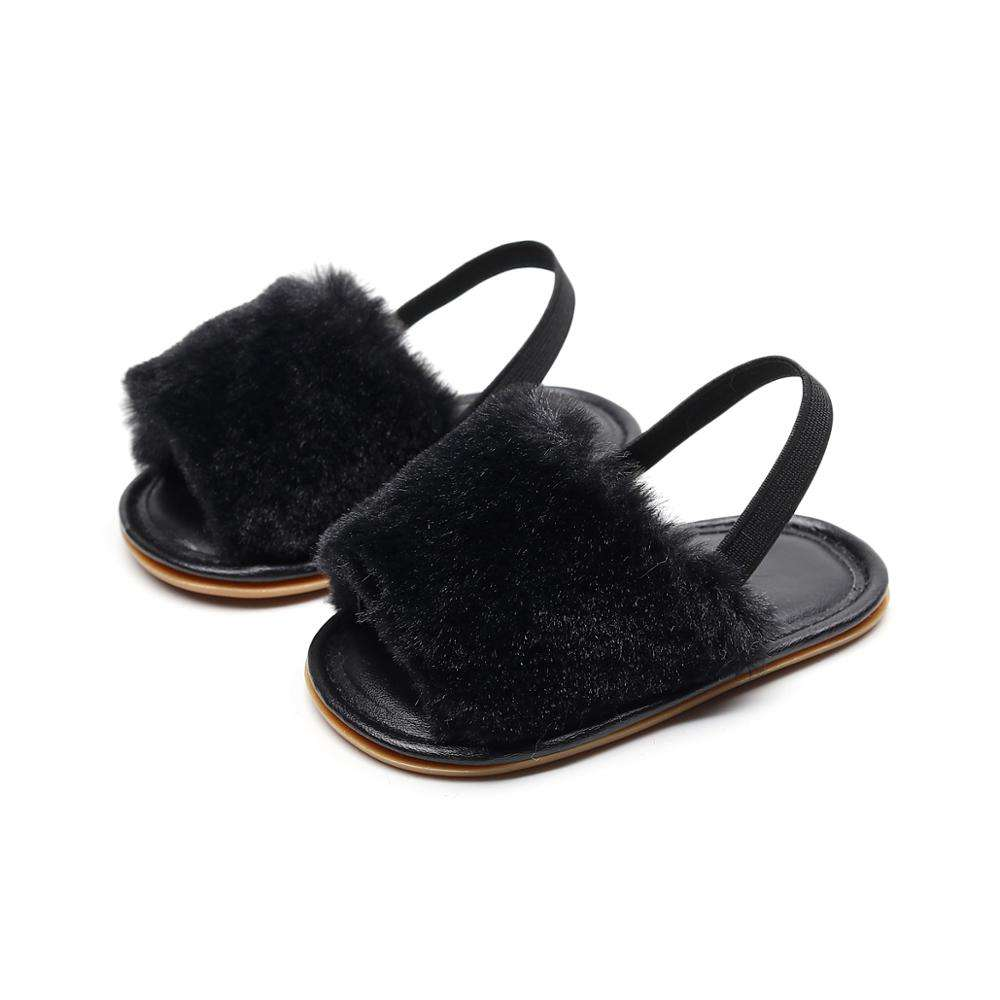 Adorable Design Comfortable Plush Indoor Quality Slippers With Rubber Sole Infant Slippers