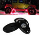 OVOVS 9W 2 inch Aluminum LED Rock Light with Multiple Color Under Light Flashing, Music Mode for Underglow Off Road Trucks