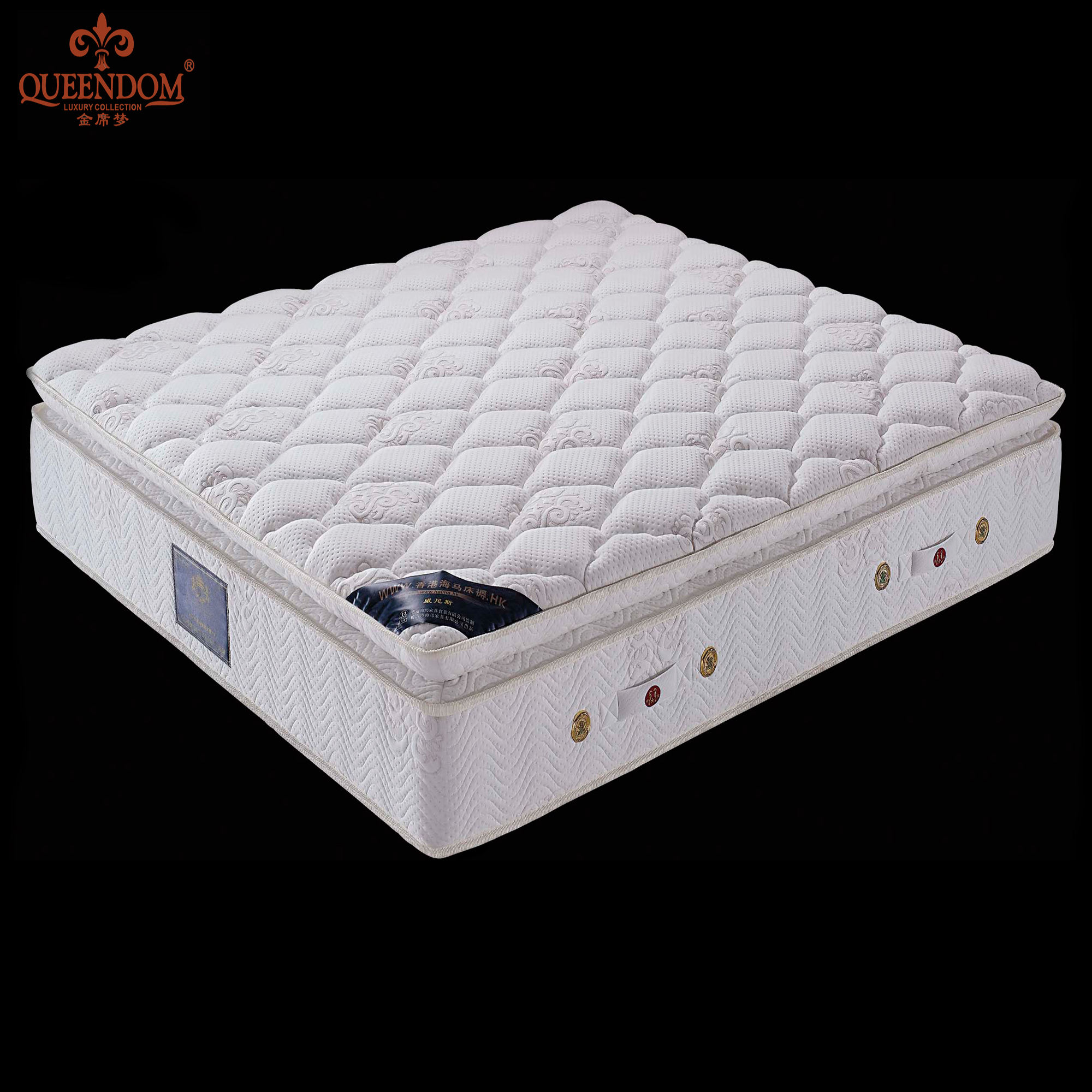 Super King Hotel Used Euro Top Bonnel Spring Mattress 2018