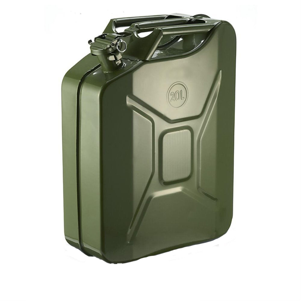 20L NATO Military Style Metal Jerry Can Fuel Can