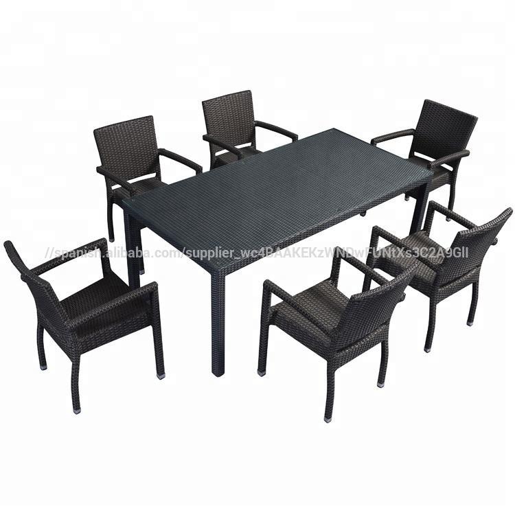 Restaurante al aire libre ratán <span class=keywords><strong>comedor</strong></span> mesas y silla