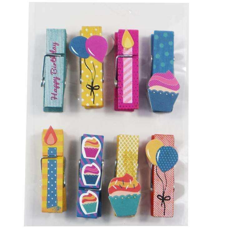 Симпатичные Красочные DIY декоративные мини Деревянные прищепки для одежды